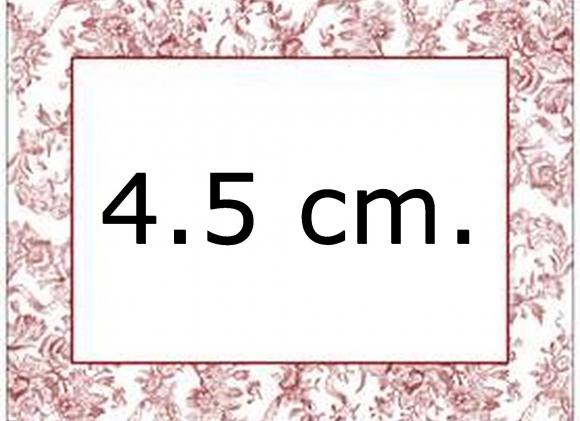 Kniphoesjes van 4.5 cm.